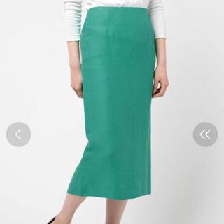 デミルクスビームス(Demi-Luxe BEAMS)のデミルクスビームス麻タイトスカート美品38(ひざ丈スカート)