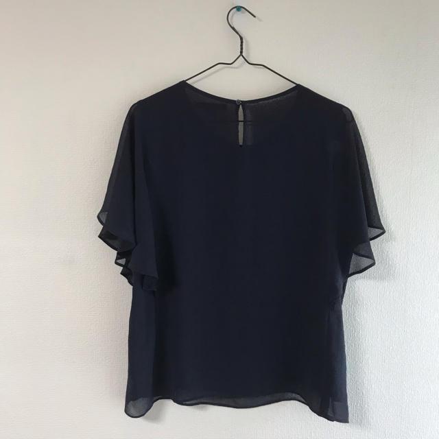 UNIQLO(ユニクロ)のUNIQLO ブラウス ネイビー レディースのトップス(シャツ/ブラウス(半袖/袖なし))の商品写真