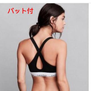 カルバンクライン(Calvin Klein)のパット付 ブラックブラとTバック カルバンクライン(ブラ&ショーツセット)