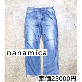 ナナミカ(nanamica)の美品 nanamica インディゴ デニム ジーンズ デニムパンツ W34(デニム/ジーンズ)