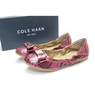コールハーン(Cole Haan)の新品♪COLE HAAN フラットリボンシューズ(22cm)/04(スリッポン)