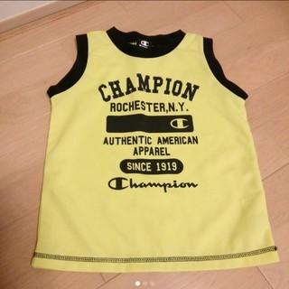 チャンピオン(Champion)のチャンピオン タンクトップ ランニング 120 ライム イエロー ブラック(Tシャツ/カットソー)