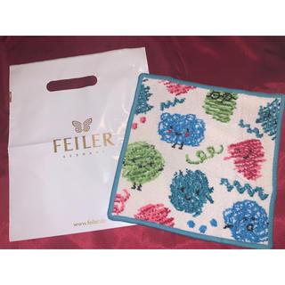 FEILER - フェイラーハンカチ新品未使用品新作グラフィティーブルー白色袋付き