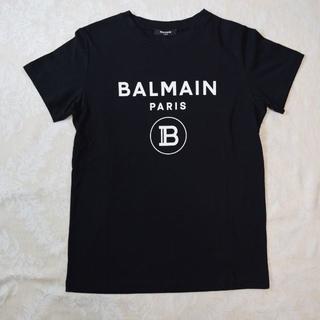 バルマン(BALMAIN)の【新品・未使用】BALMAIN KIDS ロゴ Tシャツ ブラック 12Y(Tシャツ/カットソー)