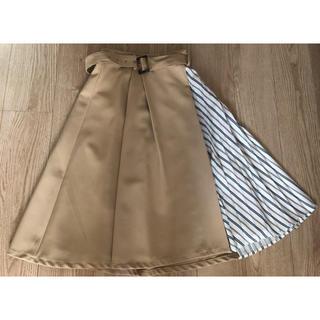 イング(INGNI)のINGNI ストライププリーツ 切替スカート (ひざ丈スカート)