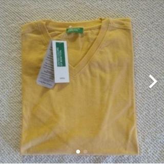 ベネトン(BENETTON)のBENETTON メンズ コットンカラー半袖VネックTシャツ サイズ国内M相当(Tシャツ/カットソー(半袖/袖なし))