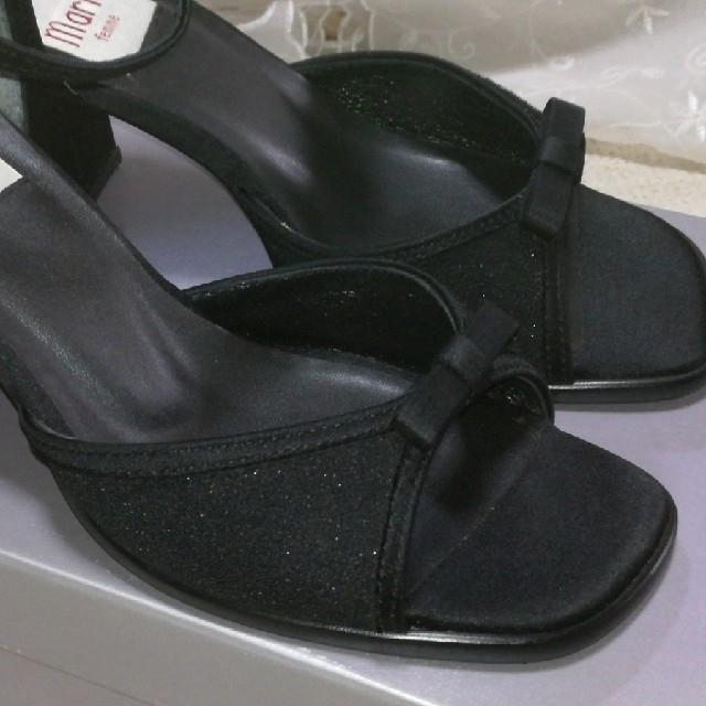 Marie femme(マリーファム)の美品*ヒールサンダル 黒 23cm*Marie femme レディースの靴/シューズ(ハイヒール/パンプス)の商品写真