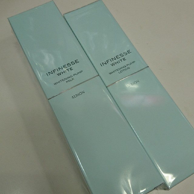 ALBION(アルビオン)のアンフィネスホワイト ミルク&ローション コスメ/美容のスキンケア/基礎化粧品(乳液/ミルク)の商品写真
