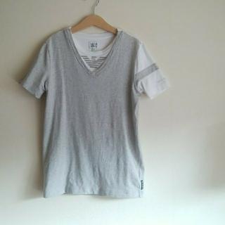 アルマーニ ジュニア(ARMANI JUNIOR)のアルマーニジュニア☆12A154㎝Tシャツグレー×白(Tシャツ/カットソー)