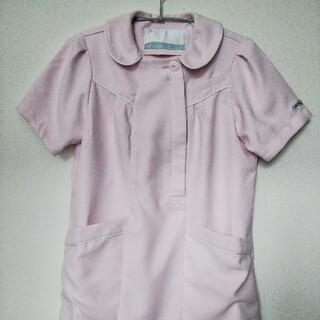 ミッシェルクラン(MICHEL KLEIN)のスクラブ  医療用 ピンク×ホワイト Sサイズ   (その他)