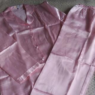 パジャマ シルク100% ピンク