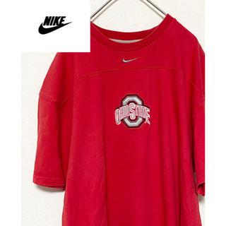 ナイキ(NIKE)の【激レア】90s NIKE Tシャツ 刺繍 希少ロゴOHIO STATE(Tシャツ/カットソー(半袖/袖なし))