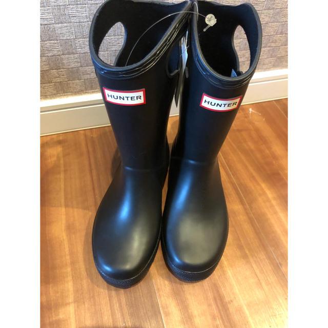 HUNTER(ハンター)のハンター 長靴 18.19 レインブーツ キッズ/ベビー/マタニティのキッズ靴/シューズ(15cm~)(長靴/レインシューズ)の商品写真