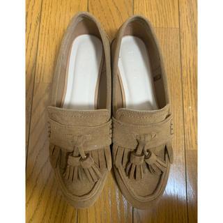 プラステ(PLST)のプラステフェイクスエードタッセルローファー Sサイズ(ローファー/革靴)