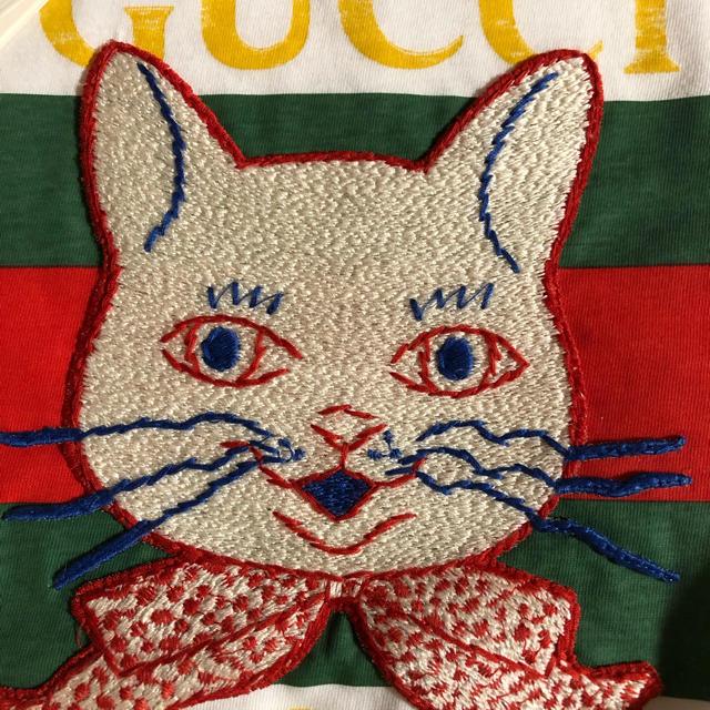 Gucci(グッチ)のGUCCIチルドレン・ガールズ猫Tシャツ(12)新品タグ付 レディースのトップス(Tシャツ(半袖/袖なし))の商品写真