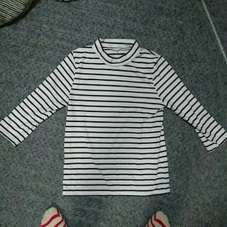 ジーユー(GU)のハイネック♡ボーダー(Tシャツ(長袖/七分))