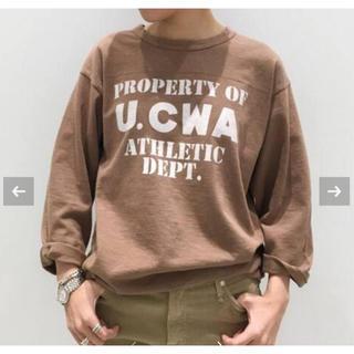 アパルトモンドゥーズィエムクラス(L'Appartement DEUXIEME CLASSE)のアパルトモン  STAMMBAUM U.CWA Tee ブラウン(Tシャツ(長袖/七分))