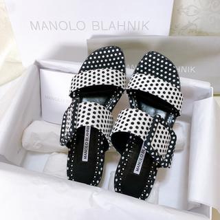 マノロブラニク(MANOLO BLAHNIK)の《新品・未使用》Manolo Blahnik サンダル サイズ35.5(サンダル)