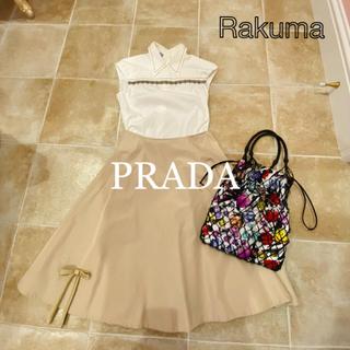 プラダ(PRADA)のプラダ ノースリーブブラウス 40(シャツ/ブラウス(半袖/袖なし))