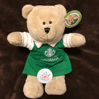 スターバックスコーヒー(Starbucks Coffee)のスタッフ限定バッジ付き スタバ ベアリスタ  オーストラリア テディベア(ぬいぐるみ)