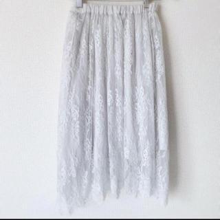 ドゥアルシーヴ(Doux archives)の新品♡レーススカート(ひざ丈スカート)