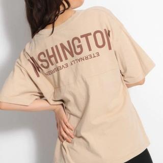 ニコアンド(niko and...)の水通しのみ*niko and... バックロゴ Tシャツ(Tシャツ(半袖/袖なし))