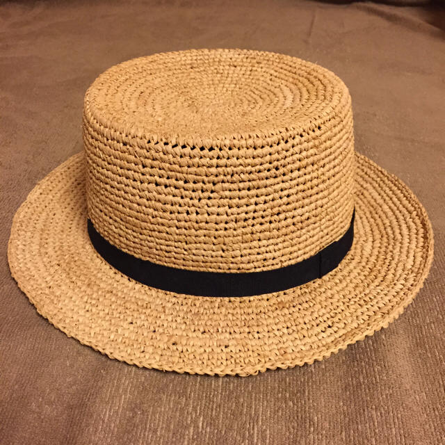 MUJI (無印良品)(ムジルシリョウヒン)の無印良品 新品! ラフィア 帽子 レディースの帽子(麦わら帽子/ストローハット)の商品写真