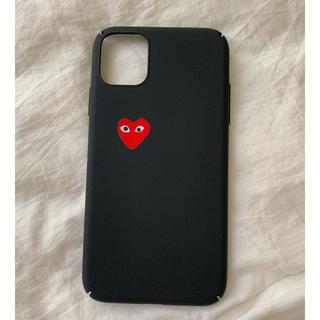 コムデギャルソン(COMME des GARCONS)のギャルソン ♡ iPhone11 iPhoneケース 黒 ハード(iPhoneケース)