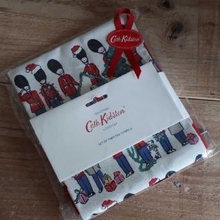 キャスキッドソン(Cath Kidston)の新品 キャスキッドソン ティータオル クリスマスガーズ ドット 2枚セット(テーブル用品)