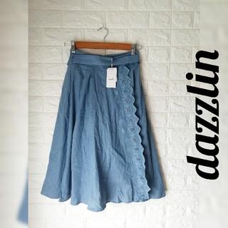 ダズリン(dazzlin)の(M101)タグ付き未使用dazzlin( ダズリン)レディーススカート(ひざ丈スカート)