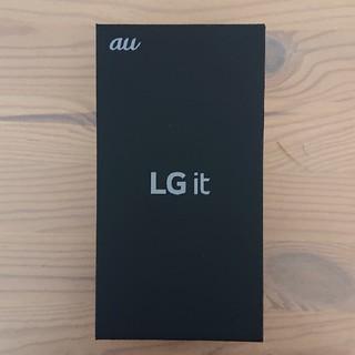 エルジーエレクトロニクス(LG Electronics)の新品 SIMロック解除済 au LG it LGV36(スマートフォン本体)