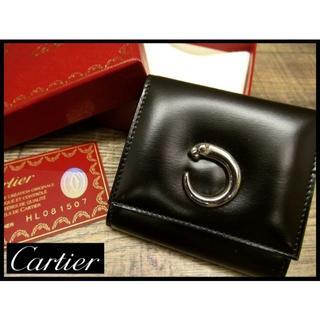 Cartier - 新品 ギャラ付 カルティエ パンテール パンサー 金具 レザー コインケース 黒
