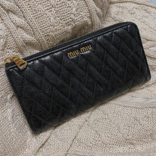 ミュウミュウ(miumiu)のmiumiu ミュウミュウ 長財布(財布)