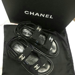 CHANEL -  シャネル 可愛い サンダル 38