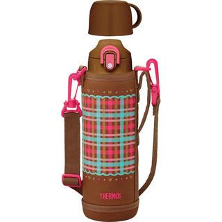 サーモス 真空断熱 2WAYボトル 1.0L チェックブラウン FHO-1000