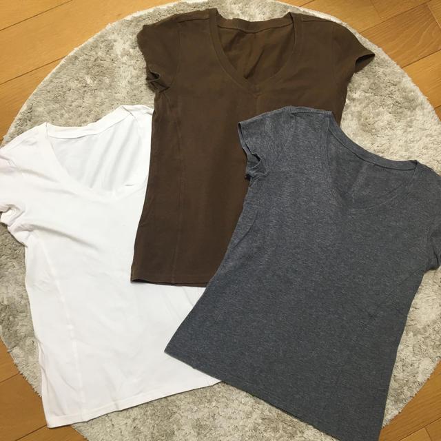 DHC(ディーエイチシー)のDHC 半袖 トップス M 3枚セット レディースのトップス(Tシャツ(半袖/袖なし))の商品写真