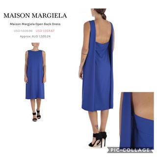 マルタンマルジェラ(Maison Martin Margiela)のMaison Margiela ライン4 ブルー ワンピース サイズ42(ひざ丈ワンピース)