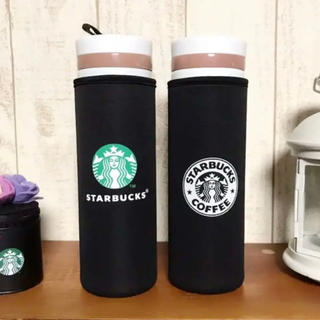 Starbucks Coffee - 【即購入大歓迎】スターバックス ペットボトルカバー 黒 500ml 2個セット
