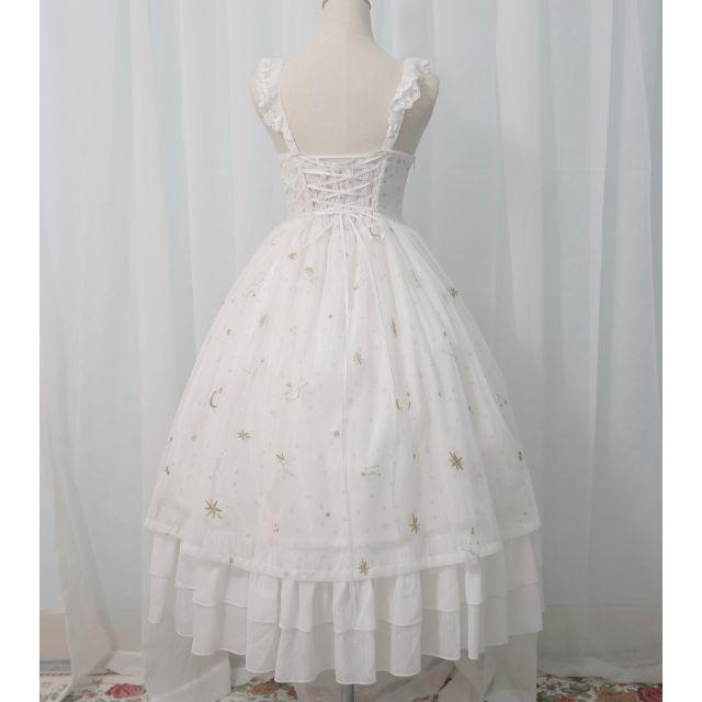 ロリータ ワンピース JSK ジャンパースカート かわいい 夜空 星 レディースのワンピース(ひざ丈ワンピース)の商品写真