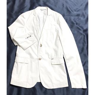 ディーゼル(DIESEL)のDIESEL ディーゼル ホワイト ジャケット テーラードジャケット 美品(テーラードジャケット)