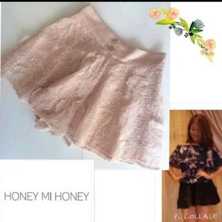 ハニーミーハニー(Honey mi Honey)のハニーミーハニー フラワーレースショートパンツ(ショートパンツ)