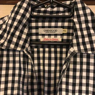 オムニゴッド(OMNIGOD)のOMNIGOD ギンガム白黒チェックシャツ(シャツ/ブラウス(長袖/七分))