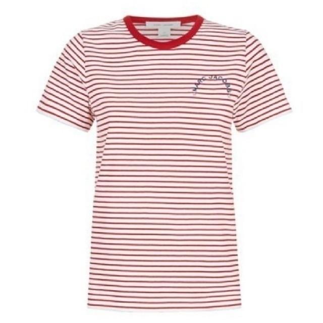MARC JACOBS(マークジェイコブス)の新品、未使用、MARC JACOBS ボーダー ロゴ T シャツ レディースのトップス(Tシャツ(半袖/袖なし))の商品写真