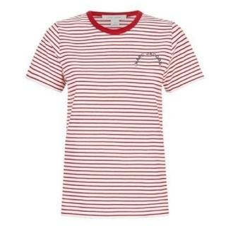 マークジェイコブス(MARC JACOBS)の新品、未使用、MARC JACOBS ボーダー ロゴ T シャツ(Tシャツ(半袖/袖なし))
