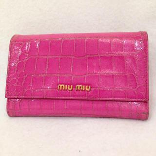 ミュウミュウ(miumiu)のmiu miu♡ピンク財布(財布)