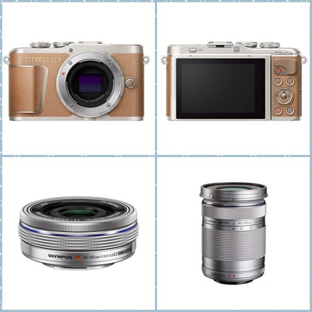 OLYMPUS(オリンパス)のオリンパス 小型一眼カメラ PEN E-PL9 EZダブルズームキット ブラウン スマホ/家電/カメラのカメラ(ミラーレス一眼)の商品写真