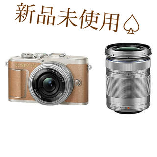 OLYMPUS - オリンパス 小型一眼カメラ PEN E-PL9 EZダブルズームキット ブラウン