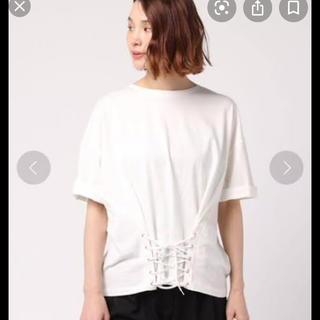 ニコアンド(niko and...)のウエストレースアップTシャツ(Tシャツ(半袖/袖なし))