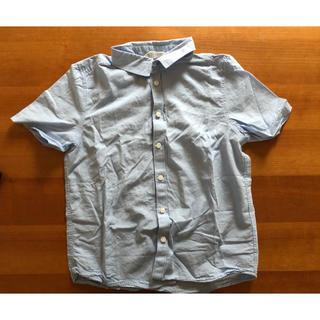 エイチアンドエム(H&M)のH&M 水色シャツ 140cm(ブラウス)
