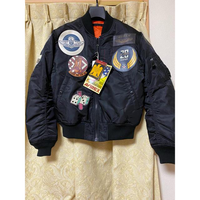 AVIREX(アヴィレックス)のアヴィレックス AVIREX  MA-1 トップガン サイズ M ブラック メンズのジャケット/アウター(フライトジャケット)の商品写真